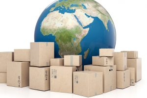 The packages go to the world